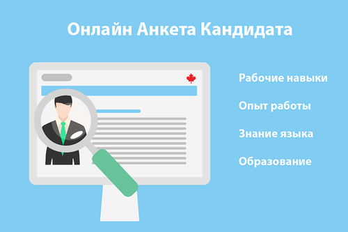 Онлайн анкета Express Entry